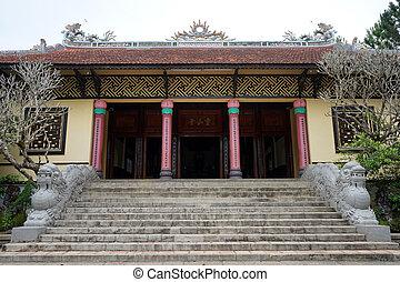 Lam Vien Square - DALAT, VIETNAM - CIRCA JANUARY 2017 Temple...