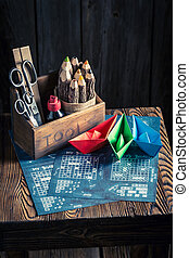 Old battleship paper game for two players