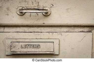 Old metal letter box
