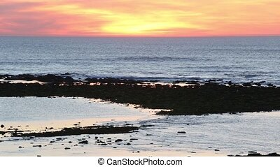 Summer sunset ocean view - Summer sunset ocean coast view...