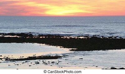 Summer sunset ocean view - Summer sunset ocean coast view...