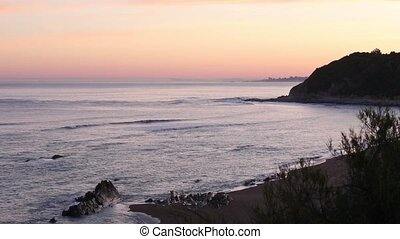 Summer sunrise ocean view - Summer sunrise ocean coast (near...