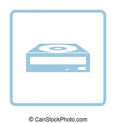 CD-ROM icon. Blue frame design. Vector illustration.