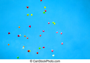 Color Balloons in the Sky