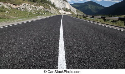 Mountain road in Russian Altai
