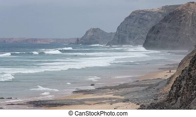 Cordoama beach (Algarve, Portugal). - Summer Atlantic ocean...