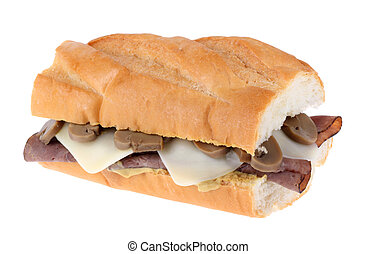French Dip Sandwich Isolated