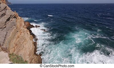 Summer rocky coast (Costa Blanca, Spain). - Mediterranean...
