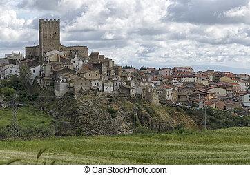 The medieval hamlet of Pietramontecorvino - View of the...