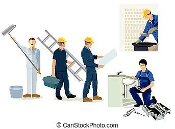 Installateur-Maurer.eps - Craftsman, installer, plumber and...