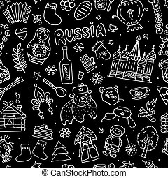Russia, seamless pattern for your design. Vector...