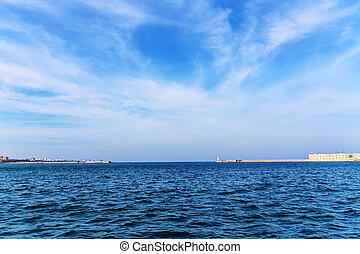 sea in Sevastopol - landscape in the marine bay in...