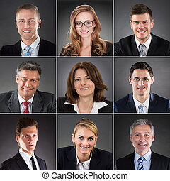 Collage Of A Businesspeople - Collage Of A Smiling Business...