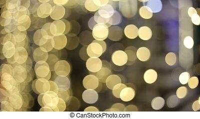 Defocused night street lights blurred colorful bokeh...