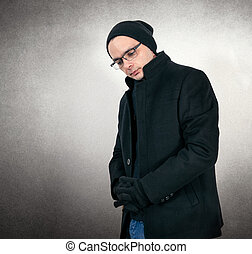 Fashion man with glasses