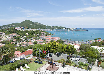 Visiting St.Thomas Island - The view of Charlotte Amalie...