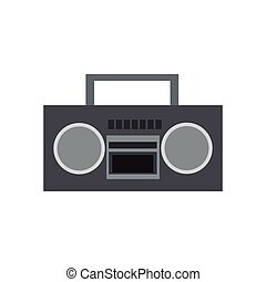 boombox stereo icon over white background. colorful design....