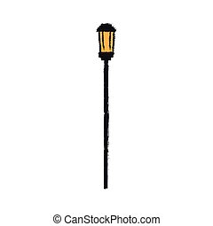 street light icon over white background. colorful design....