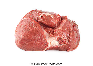 Raw juicy meat isolated