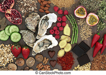 Aphrodisiac Health Food Selection - Aphrodisiac food...