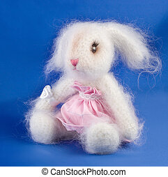 Soft toy rabbit handwork