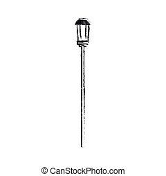 street light icon over white background. vector illustration