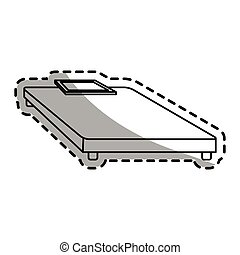 weight scale device icon over white background. vector...