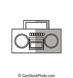 boombox stereo icon over white background. vector...