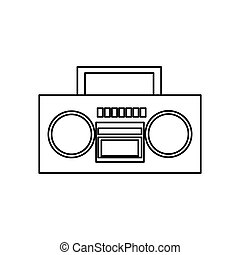 boombox stereo icon - Boombox stereo icon over white...