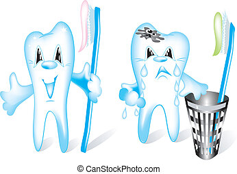 Teeth: a healthy and tooth at the white.