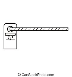 Barrier icon, outline style - Barrier icon. Outline...