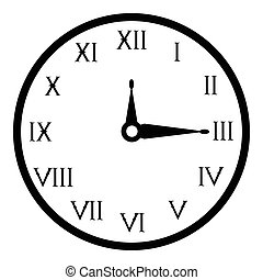 Wall clock icon, simple style - Wall clock icon. Simple...