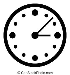 Big wall clock icon, simple style - Big wall clock icon....