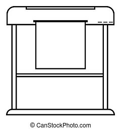 Printer icon, outline style - Printer icon. Outline...