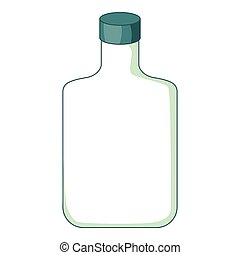 Flat bottle icon, cartoon style - Flat bottle icon. Cartoon...