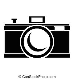 Photocamera icon, simple style - Photocamera icon. Simple...