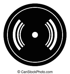 CD icon, simple style - CD icon. Simple illustration of cd...