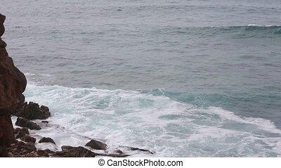Atlantic rocky coast, Algarve, Portugal. - Summer Atlantic...