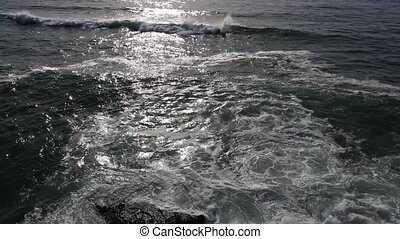 Atlantic ocean evening landscape. - Atlantic ocean evening...