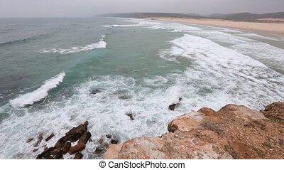 Algarve, sandstrand, atlantisch,  portugal, sandig