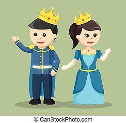 prince and princess greeting