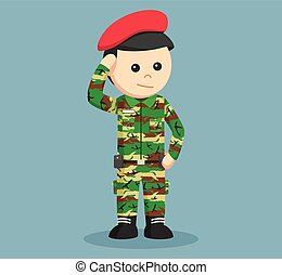army man saluting illustration design