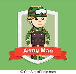 army man in emblem