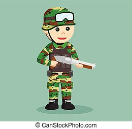 army man with shotgun