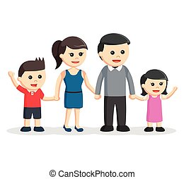 happy family color illustration design
