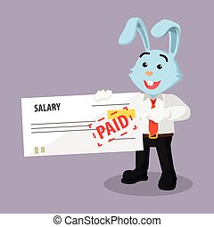business rabbit holding salary check