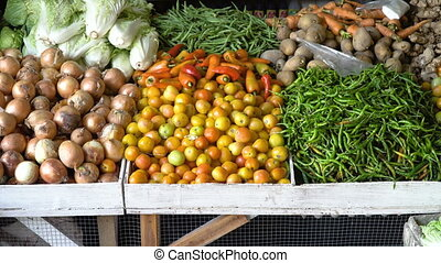 Vegetables in the Market. - Vegetables in the street market....