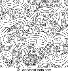 Abstract hasian stylized ornament seamless pattern with...