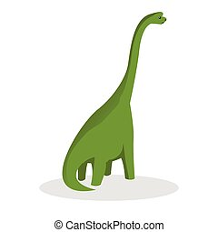 brontosaurus color illustration design