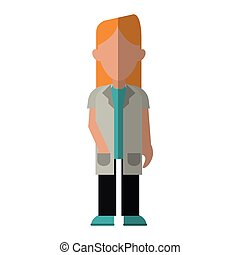blonde woman doctor occupational medical work vector...